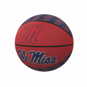 Ole Miss Repeating Logo Mini-Size Rubber Basketball