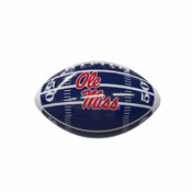Ole Miss Field Navy Logo Mini-Size Glossy Football
