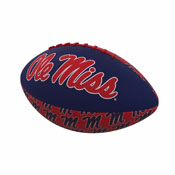 Ole Miss Repeating Mini-Size Rubber Football