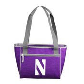 Northwestern Purple 16 Can Cooler Tote f/ Primary Logo