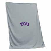 TCU Gray Sweatshirt Blanket