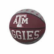 TX A&M Repeating Logo Mini-Size Rubber Basketball