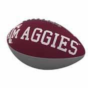 TX A&M Combo Logo Junior-Size Rubber Football