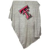 TX Tech Gray Sweatshirt Blanket