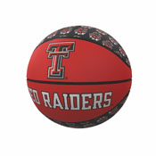 TX Tech Repeating Logo Mini-Size Rubber Basketball