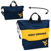 West Virginia Crosshatch Expandable Tote