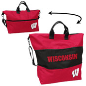 Wisconsin Crosshatch Expandable Tote