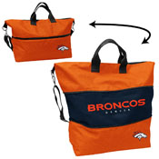 Denver Broncos Crosshatch Expandable Tote