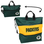 Green Bay Packers Crosshatch Expandable Tote