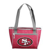 San Francisco 49ers Crosshatch 16 Can Cooler Tote