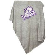 TCU Horned Frog Gray Sweatshirt Blanket