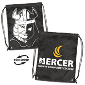 Mercer County CC Black Doubleheader Backsack