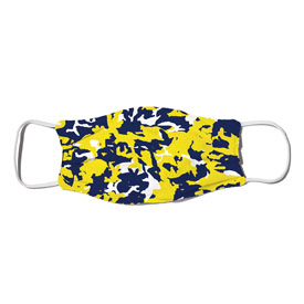 Face Mask - Camo Colors Blue & Yellow 2-03