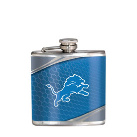 Detroit Lions Stainless Steel 6 oz. Flask with Metallic Graphics