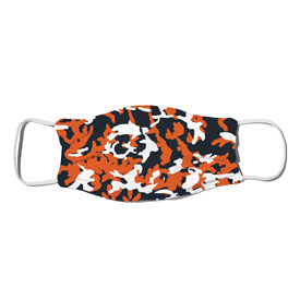 Face Mask - Camo Colors Navy & Orange 4-01