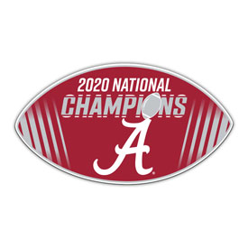 """Alabama Crimson Tide 2020 National Champion 12"""" Vinyl Magnet"""