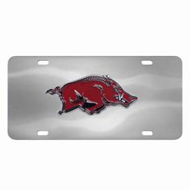 Arkansas Razorbacks Die-cast License Plate
