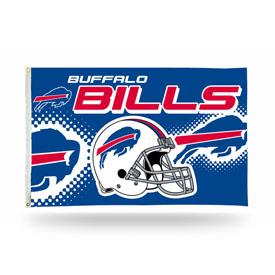 Buffalo Bills 3 x 5 Flag - Helmet Design