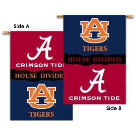 "Alabama - Auburn 2-Sided 28"" X 40"" Banner W/ Pole Sleeve House Divided"