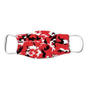 Face Mask - Camo Colors Red & Black 2-07