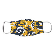 Face Mask - Camo Colors Blue & Gold 2-12