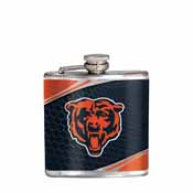 Chicago Bears Stainless Steel 6 oz. Flask with Metallic Graphics