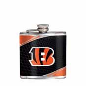 Cincinnati Bengals Stainless Steel 6 oz. Flask with Metallic Graphics