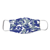 Face Mask - Camo Colors Blue & Silver 4-03