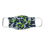 Face Mask - Camo Colors Blue & Bright Green 4-14