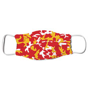 Face Mask - Camo Colors Red & Gold 4-25