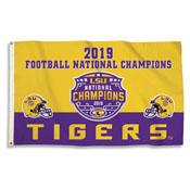 LSU Tigers NATIONAL CHAMPION 3 X 5 FLAG