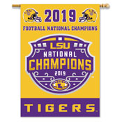 LSU Tigers NATIONAL CHAMPION 2-SIDED 28 X 40 BANNER