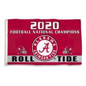 Alabama Crimson Tide 2020 National Champion 3 X 5 Flag