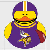 Minnesota Vikings Rubber Duck 4