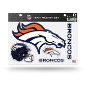 Denver Broncos Magnet Set 3 Piece