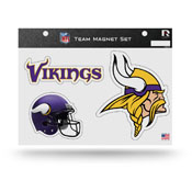 Minnesota Vikings Magnet Set 3 Piece