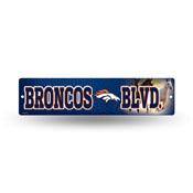 Denver Broncos Plastic Street Sign