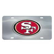 San Francisco 49ers Die-cast License Plate