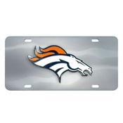 Denver Broncos Die-cast License Plate