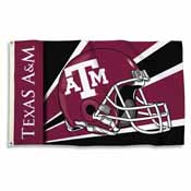 Texas A&M Aggies 3 Ft. X 5 Ft. Flag W/Grommets - Helmet Design