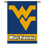 West Virginia Mountaineers 2-Sided 28 Inch x 40 Inch Banner W/ Pole Sleeve
