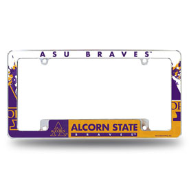 Alcorn State All Over Chrome Frame (Bottom Oriented)
