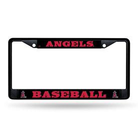 Angels Black Chrome License Frame