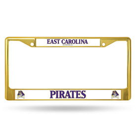 East Carolina Gold Colored Chrome Frame-1
