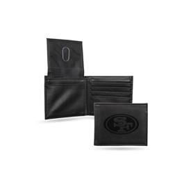 49Ers Laser Engraved Black Billfold Wallet