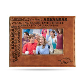 "Arkansas University Laser Engraved Brown Picture Frame (6.75"" X 8.75"")"