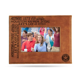"""Astros Laser Engraved Brown Picture Frame (6.75"""" X 8.75"""")"""