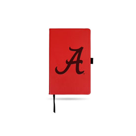 Alabama University Team Color Laser Engraved Notepad W/ Elastic Band - Maroon