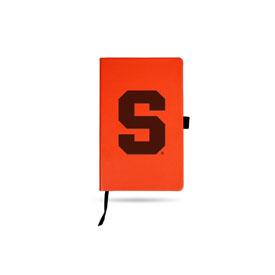Syracuse University Team Color Laser Engraved Notepad W/ Elastic Band - Orange