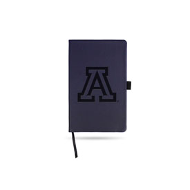 Arizona University Team Color Laser Engraved Notepad W/ Elastic Band - Navy
